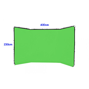 クロマキーグリーン 400cm x 230cm