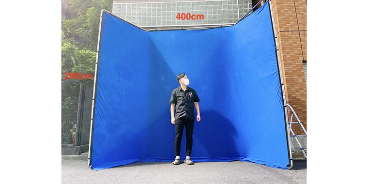クロマキーブルー 400cm x 290cm
